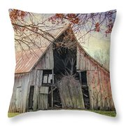 Barn Of The Indian Summer Throw Pillow