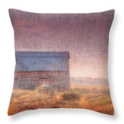 Barn In Early Light  Throw Pillow