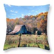 Barn In Liberty Mo Throw Pillow