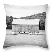 Barn In Meadow Throw Pillow