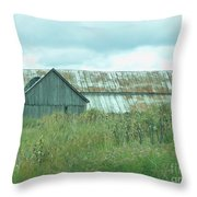 Barn In Softness Of Nature Throw Pillow