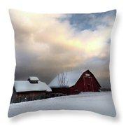 Barn In Solitude Throw Pillow