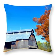 Barn In The Fall  Throw Pillow