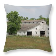 Barn In The Field 948 Throw Pillow