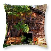 Barn In The Shade Throw Pillow