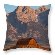 Barn In The Tetons One Throw Pillow