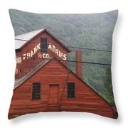 Barn In Vermont Along Amtrack Throw Pillow