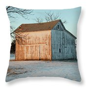 Barn Late Afternoon Throw Pillow