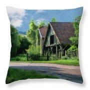 Barn Near Lac De Panthier - P4a160017 Throw Pillow