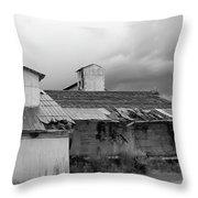 Barn Needs A Little Work Throw Pillow