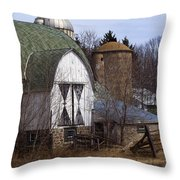 Barn On 29 Throw Pillow