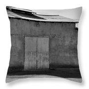 Barn On Dairy Farm Throw Pillow