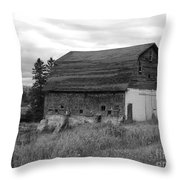 Barn On The River Flat Throw Pillow