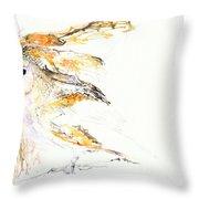 Barn Owl And Tree Throw Pillow