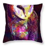 Barn Owl Bird British Nature  Throw Pillow