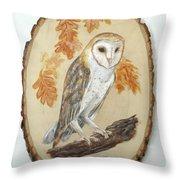 Barn Owl - Enduring Insight Throw Pillow