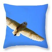 Barn Owl Flight Throw Pillow