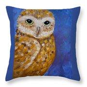 Barn Owl- Impressionism- Owl By Night Throw Pillow