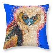 Barn Owl Painting Throw Pillow