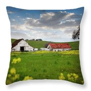 Barn Paso Robles, Ca Throw Pillow