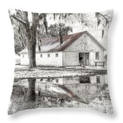 Barn Reflection Throw Pillow