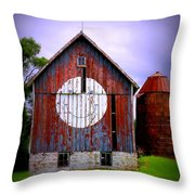 Barn Smile Throw Pillow