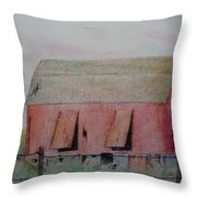 Barn The Red Throw Pillow