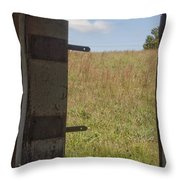 Barn Window View Throw Pillow