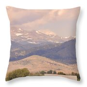 Barn With A Rocky Mountain View  Throw Pillow