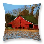 Barn With Double Doors Throw Pillow