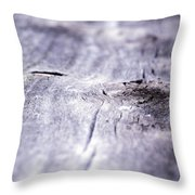 Barn Wood Abstract Throw Pillow