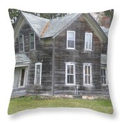 Barn Wood Throw Pillow