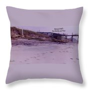 Barnacle Bill's Post Bertha And Fran Throw Pillow