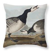 Barnacle Goose Throw Pillow