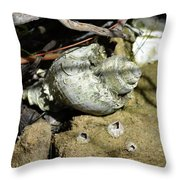 Barnacles And Crabs Throw Pillow