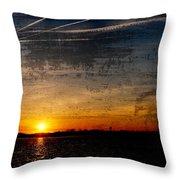 Barnegat Bay Sunset - Jersey Shore Throw Pillow