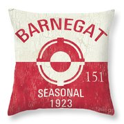 Barnegat Beach Badge Throw Pillow