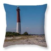 Barnegat Lighthouse Nj Throw Pillow