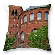 Barnes Hall Cornell University Ithaca New York 02 Throw Pillow
