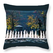 Barney Allis Plaza-kansas City Throw Pillow
