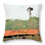 Barns 005 Throw Pillow