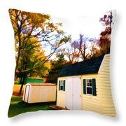 Barns In Autumn Throw Pillow