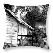 Barns In Black And White Throw Pillow
