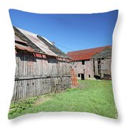 Barns Of Old Throw Pillow