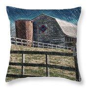 Barnscape Throw Pillow
