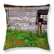 Barnside Flowers Throw Pillow