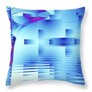 Barnsley Blue Throw Pillow