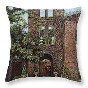 Barnsley Garden Ruins Throw Pillow