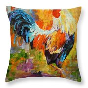 Barnyard Shuffle Throw Pillow by Barbara Pirkle