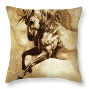Baroque Horse Series IIi-i Throw Pillow